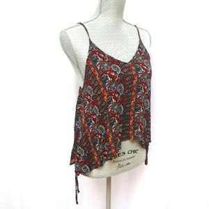Harlow Paisley Side Lace Up V-Neck Camisole